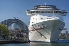 Cruise liner Carnival Spirit in Sydney, Australia stock photography