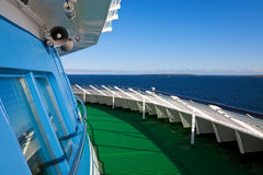 Cruise liner deck Royalty Free Stock Images