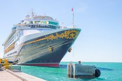 Cruise liner Disney Magic at Key West, Florida. January 18, 2018: Cruise liner docked in port of Key West, is waiting for the passengers who`s having Stock Photography