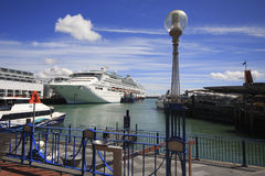 Cruise Liner at Dock Stock Photo