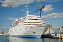 Cruise Liner in the Dockyard Royalty Free Stock Photo