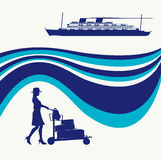 Cruise Liner Flyer Stock Photo