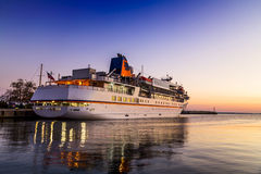 Cruise liner on the harbor Stock Photography