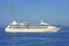 Cruise liner. In the Haro Strait, Canada royalty free stock photos