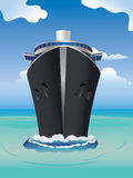 Cruise Liner In The Sea Stock Image