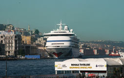Cruise liner in Istanbul Stock Photo