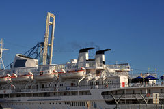 Cruise liner and life boats Royalty Free Stock Photography