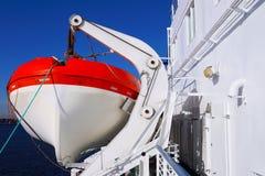 Cruise liner. Lifeboat. Voyage. Royalty Free Stock Photo