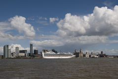 Cruise Liner in Liverpool Stock Image