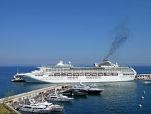 Cruise liner in Monte-Carlo Stock Photo