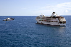 Cruise liner in Monte Carlo port, Monaco Stock Photo