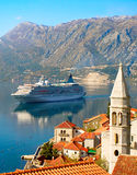 Cruise liner, Montenegro Royalty Free Stock Photography