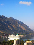 Cruise liner in Montenegro Stock Image