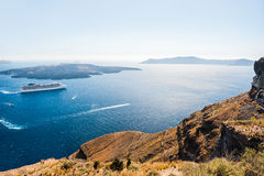 Cruise liner near the Greek Islands Stock Photo