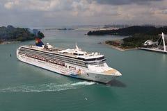 Cruise liner near Singapore Royalty Free Stock Photos