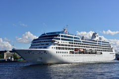 Cruise liner Ocean Princess departs from St. Petersburg, Russia Royalty Free Stock Photo