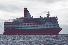 Cruise liner in open sea Stock Photo
