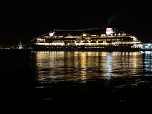 Cruise liner at night Stock Image
