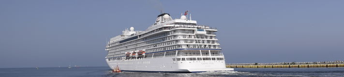 Cruise liner panorama Royalty Free Stock Photography