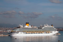 Cruise liner on parking in port. Palma-de-Majorca, Spain Stock Photography