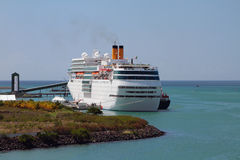 Cruise liner on parking to Port Louis, Mauritius Stock Images