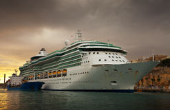 Cruise liner in the port royalty free stock photos