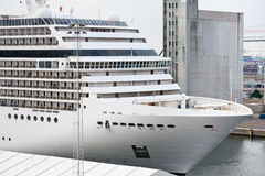 Cruise liner in  port Stock Photo