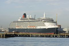 Cruise liner in port. Cruise liner in home port of Southampton, UK Royalty Free Stock Photos