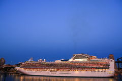 Cruise Liner in port at first light. Stock Images