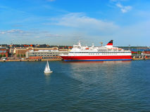 Cruise liner in port of Helsinki, Finland royalty free stock photos