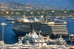 Cruise liner in port of  the Kingdom of Monaco Royalty Free Stock Photography