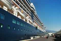 Cruise liner in port of  the Kingdom of Monaco Stock Image