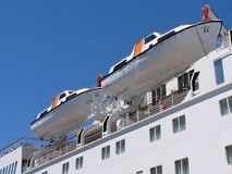 Cruise Liner Portholes and Life Boats Royalty Free Stock Image