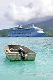 Cruise Liner RADIANCE OF THE SEAS. RADIANCE OF THE SEAS at Mystery Island, Vanuatu Stock Images