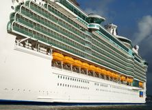Cruise Liner's Side Royalty Free Stock Photo