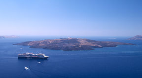 Cruise liner in the sea. royalty free stock images