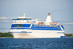 Cruise liner at sea Royalty Free Stock Photography