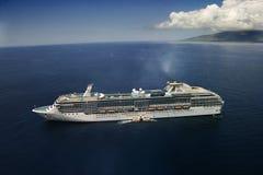 Cruise liner at sea. Royalty Free Stock Photos