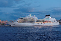 Cruise liner Seabourn Quest moored in St. Petersburg, Russia Royalty Free Stock Photography