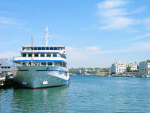 Cruise liner in Sevastopol harbor Royalty Free Stock Images