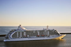 Cruise liner SEVEN SEAS VOYAGER in port Klaipeda Royalty Free Stock Image
