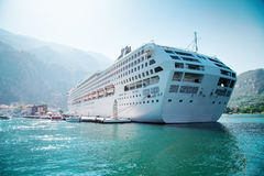 Cruise liner ship swimming at blue Adriatic sea Royalty Free Stock Photo