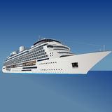 Cruise liner, ship, vector Stock Photography
