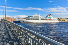 Cruise liner in St.-Petersburg, Russia Royalty Free Stock Photo
