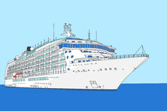 Cruise liner vector Stock Photography