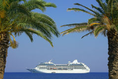 Cruise liner, Zakynthos island Royalty Free Stock Photo