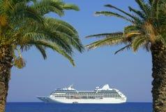 Cruise liner, Zakynthos island royalty free stock photo