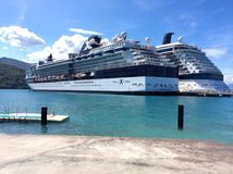 Cruise liners. Celebrity Constellation and Celebrity Reflection cruise ships docked in Labadee, Haiti Stock Photos