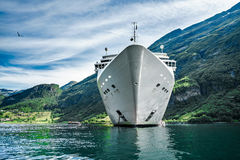 Cruise Liners On Geiranger fjord, Norway Royalty Free Stock Photo