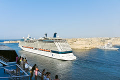 Cruise Liners in Grand Harbour, Port in Valletta Stock Images